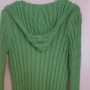 Ann Taylor bright green hooded sweater